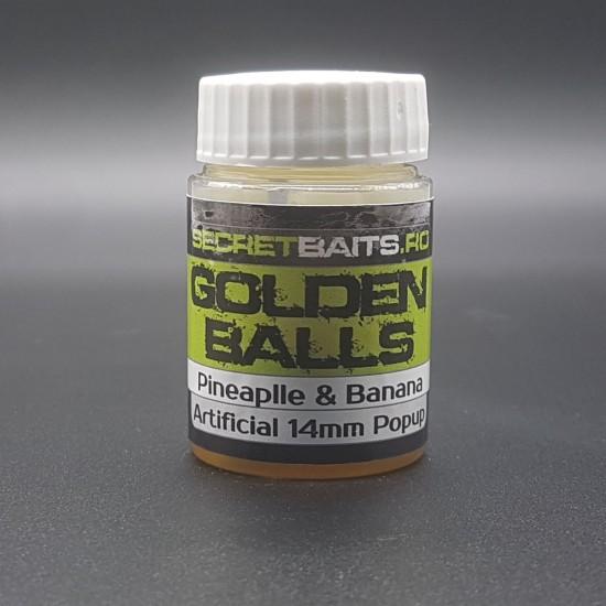 Secret Baits Artificial Popup 10mm Golden Balls Flavour